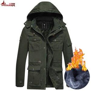 Inverno parka casaco masculino casual grosso quente com capuz blusão de neve casaco de lã chapéu destacável masculino outerwear roupas