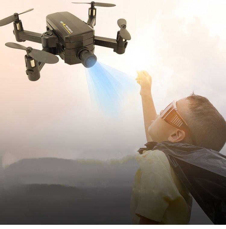 Mini drone avec caméra enfants quadrirotor selfie drone pour téléphone professionnel hd 720p wifi fpv 6ch jouet pour enfants poche petit
