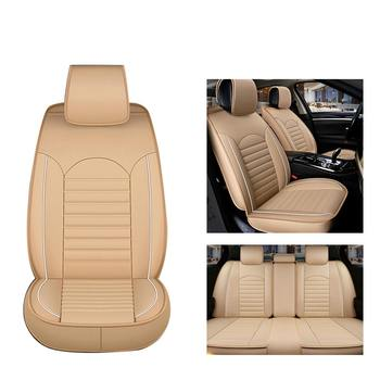 1 Piece Waterproof Car Seat Cover Universa l Leather Auto Front Seat Cushion Protector Pad Mat Fit Most Car Accessories Interior image