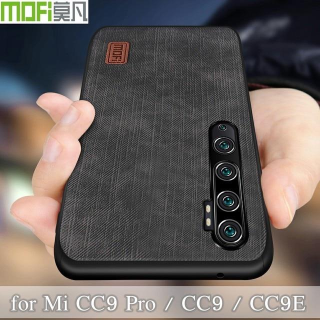 Mofi สำหรับ Xiao Mi cc9 Pro สำหรับ Mi Note 10 Pro ฝาครอบซิลิโคนกันกระแทกกางเกงยีนส์หนัง PU สีดำ TPU Mofi ต้นฉบับ
