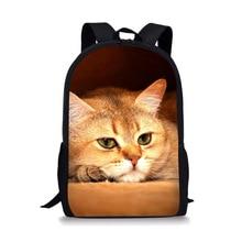 Kawaii School Backpack For Girls Kids Schoolbag Cute Cat Pattern School Bags For Teenagers Book Bag Teenager Mochila 2016 new cute 3d panda print schoolbag teenager nylon fabric backpack girls book bags for women mochila packbag kids van owl