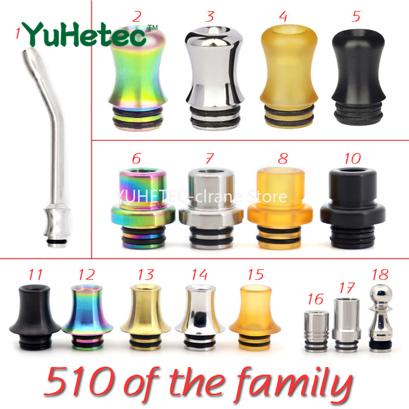510 Drip Tip Stainless Steel PEI Drip Tip For RDA RTA Atomizer Like VapeFly Holic MTL RDA/Galaxies MTL/Kayfun Lite 2019 MTL RTA