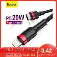 Baseus USB C kablo iPhone için 12 Pro Max PD 18W 20W hızlı şarj kablosu iPhone 12 11 8 USB C kablo veri kablosu USB tipi C kablosu