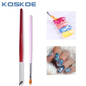 1 Pc Nail Art Pen Brush Gradient UV Gel Acrylic Painting Drawing Liner Polish Nail Brush Therapy Pen Nail Art Design Tool
