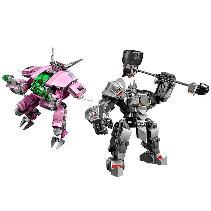 Permainan D. VA & Reinhardt Set Overwatchingly Angka 75973 Blok Bangunan Batu Bata Mainan Anak Model Hadiah Anak