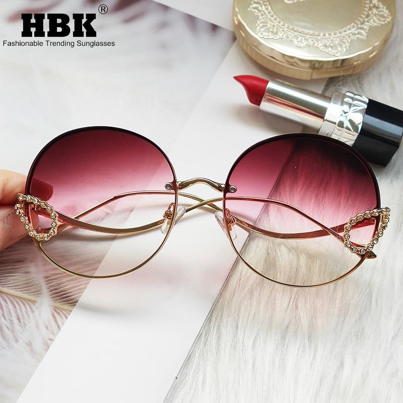 2020 Round Rhinestone Sunglasses Women Vintage Diamond Gorgeous Brand Sun Glasses For Female TOP Quality Oculos UV400 Men Shades
