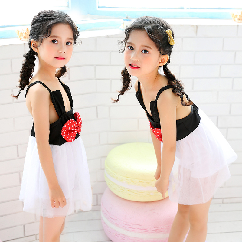 New Products Children 2-4-6-Year-Old Bathing Suit CHILDREN'S Swimsuit GIRL'S One-piece Cute Princess Dress-Tour Bathing Suit
