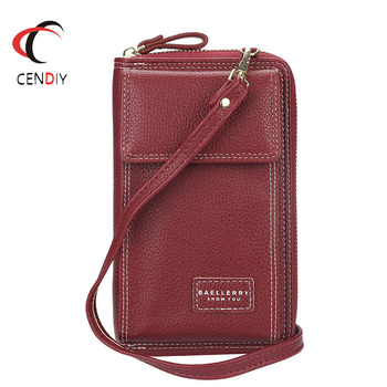 Fashion Leather Purse Shoulder Bags Women Chain Mobile Phone Pocket Long Ladies Small Messenger Bag for Women Clutch Bag fashion women bag tassel metal small day clutch purse handbags chain shoulder lady evening bags phone key pocket bags
