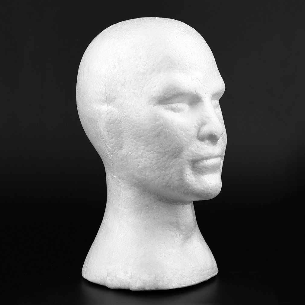 2017 NEW Arrival kreatywnych mężczyzn mężczyzna gładka głowa manekina Model czapka z peruką okulary czapki wyświetlacz bańka głowa manekina z uszami