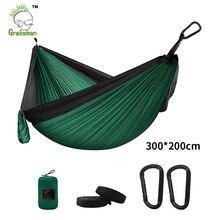 300*200Cm Draagbare Camping Parachute Hangmat Survival Tuin Outdoor Meubelen Vrijetijdsbesteding Slapen Hamaca Reizen Dubbele Opknoping Bed