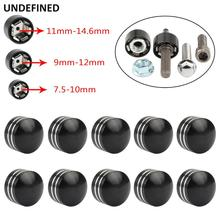 10Pcs Motorcycle Bolt Head Cover Schrauben Topper Caps Cnc Aluminium Voor Harley Twin Cam Dyna Softail Touring Road King