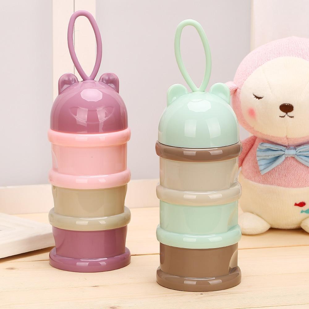 Three-layer Milk Powder Boxes Portable Nursing Infant Large-Volume Milk Cans Baby Clothing Milk Powder Carrying Case Milk Contai