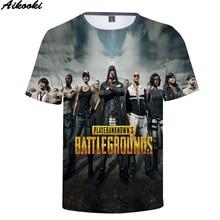 Aikooki Short Sleeve 3D PUBG T-Shirt Men/Women Hip Hop Fashion Print Game PUBG 3D T shirt Boys/girls Summer Top Casual Tee shirt