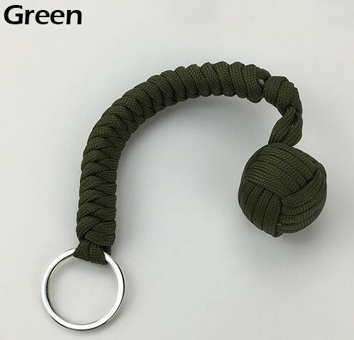 Наружная защита безопасности черная обезьяна кулак стальной шарик для девушки подшипник самообороны ремешок брелок для выживания разбитые окна - Цвет: Слоновая кость