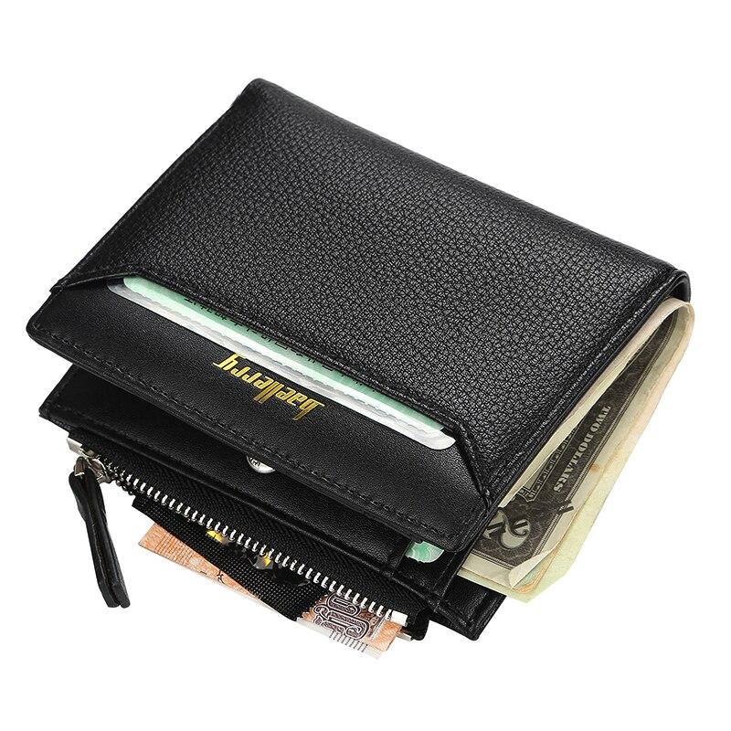 New Arrival Fashion Mens Short Wallet Korean Style Three Fold Purses Zipper Coin Purse Card Holder Porte Feuille Homme.
