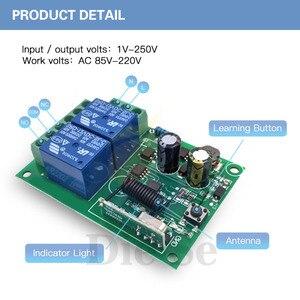 Image 4 - 433 MHz kablosuz evrensel uzaktan kumanda anahtarı AC 110V 220V 2CH rf röle alıcı ve verici garaj ve kapı kontrolü