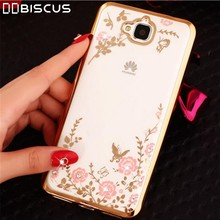 Flower Soft TPU Glitter Silicone Case For Huawei Y6 Pro Y 6 Y6Pro TIT-L01 TIT-U02 Cover for Honor 4C Pro TIT U02 L01 Honor4C Pro(China)