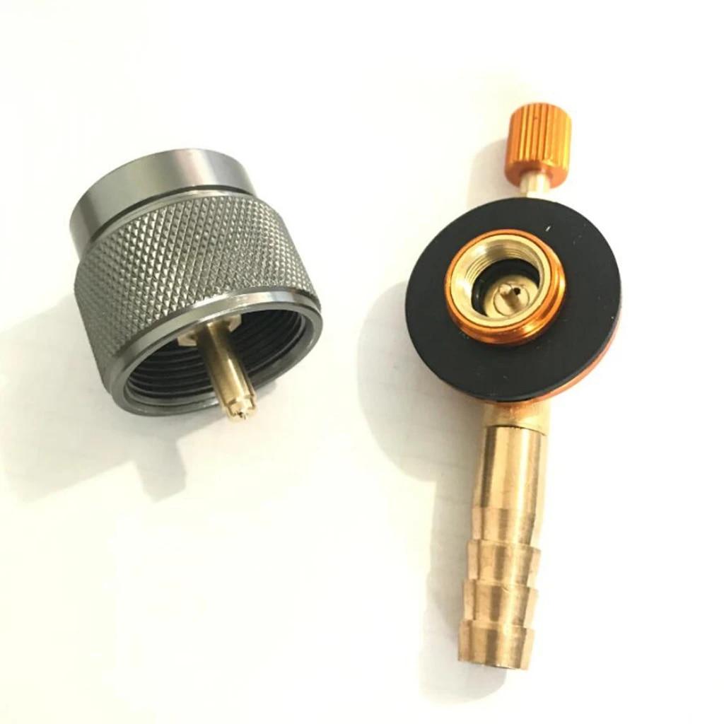 Gas Adapter Valve Butane Propane Bottle Tanks Outdoor Gas Stove Refill Coupler