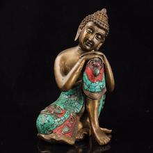 Tibet Sleeping Buddha Shakyamuni Copper Handmade  Buddha Statue Home Decoration Sculpture Modern Art For Collection&Gift hanif kureishi äärelinna buddha