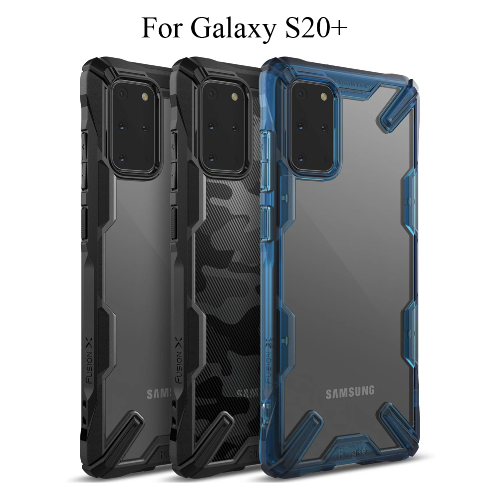 Ringke Fusion X For Galaxy S20 Plus Case Shock Absorption Clear Hard PC Back Soft TPU Frame For Galaxy S20+ 5G Cover