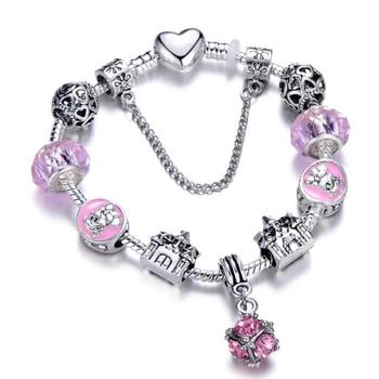 Cute Mickey Mouse Themed Bracelet Bracelets Jewelry New Arrivals Women Jewelry Metal Color: 14 Length: 18cm
