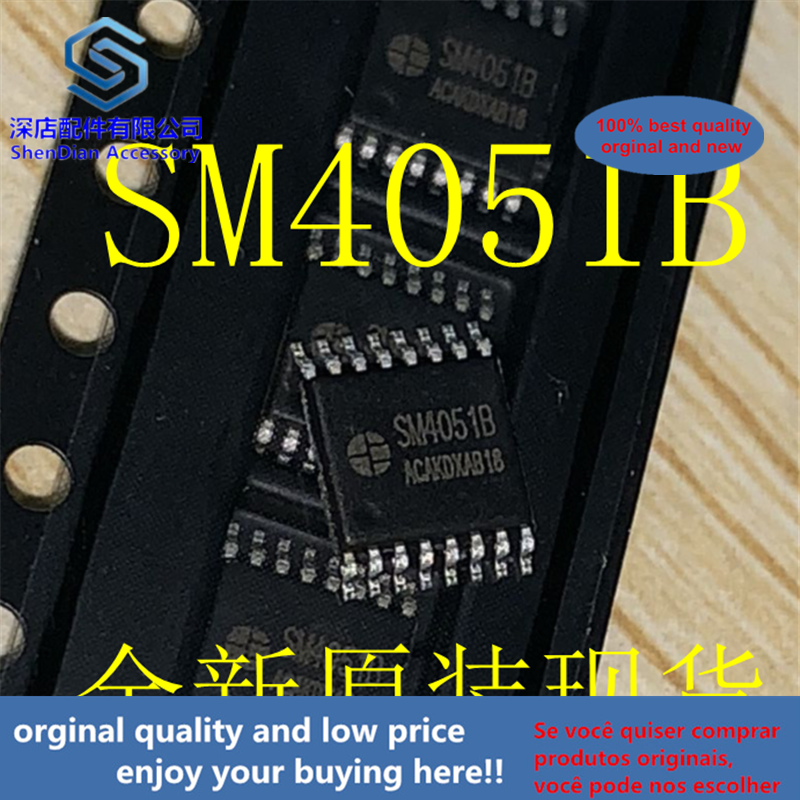 10pcs 100% Orginal And New SM4051B TSSOP16 Best Qualtiy