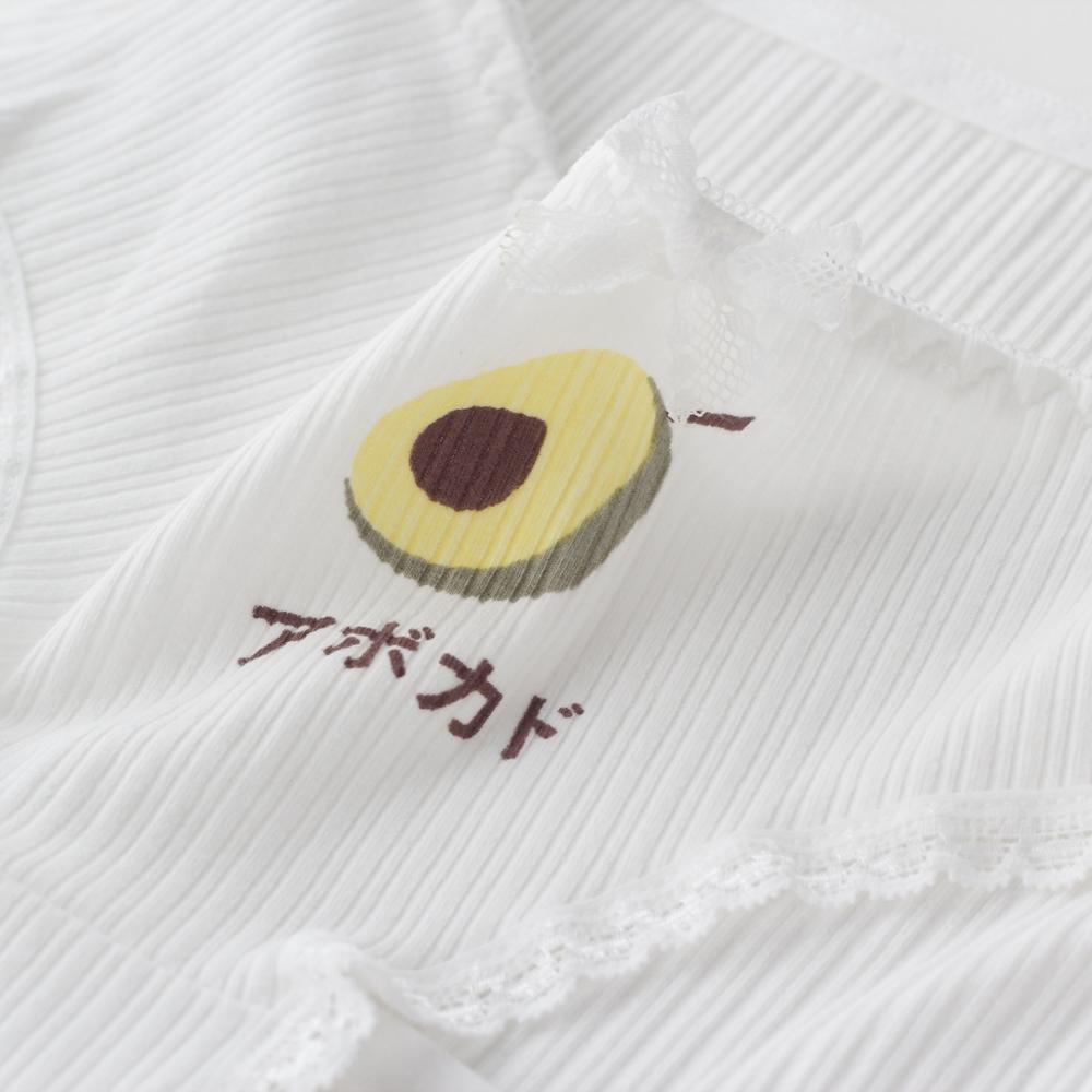 Women's panties gril Avocado Cartoon briefs female cotton underwear lingerie ladies underpants Lace heart pattern woman panty