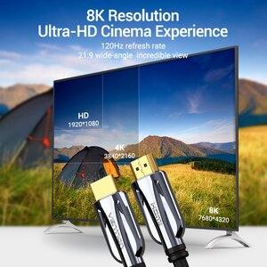 Image 4 - Vention HDMI 2.1 كابل 8K @ 60Hz عالية السرعة 48Gbps HDMI كابلات منتجات APPLE تلفزيون PS4 واجهة وسائط متعددة عالية الدقة كابل HDMI