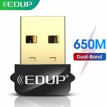 EDUP USB WIFI adaptörü 650Mbps çift bant 5G/2.4GHz harici kablosuz ağ kartı Wifi güvenlik cihazı alıcı dizüstü windows MacOS