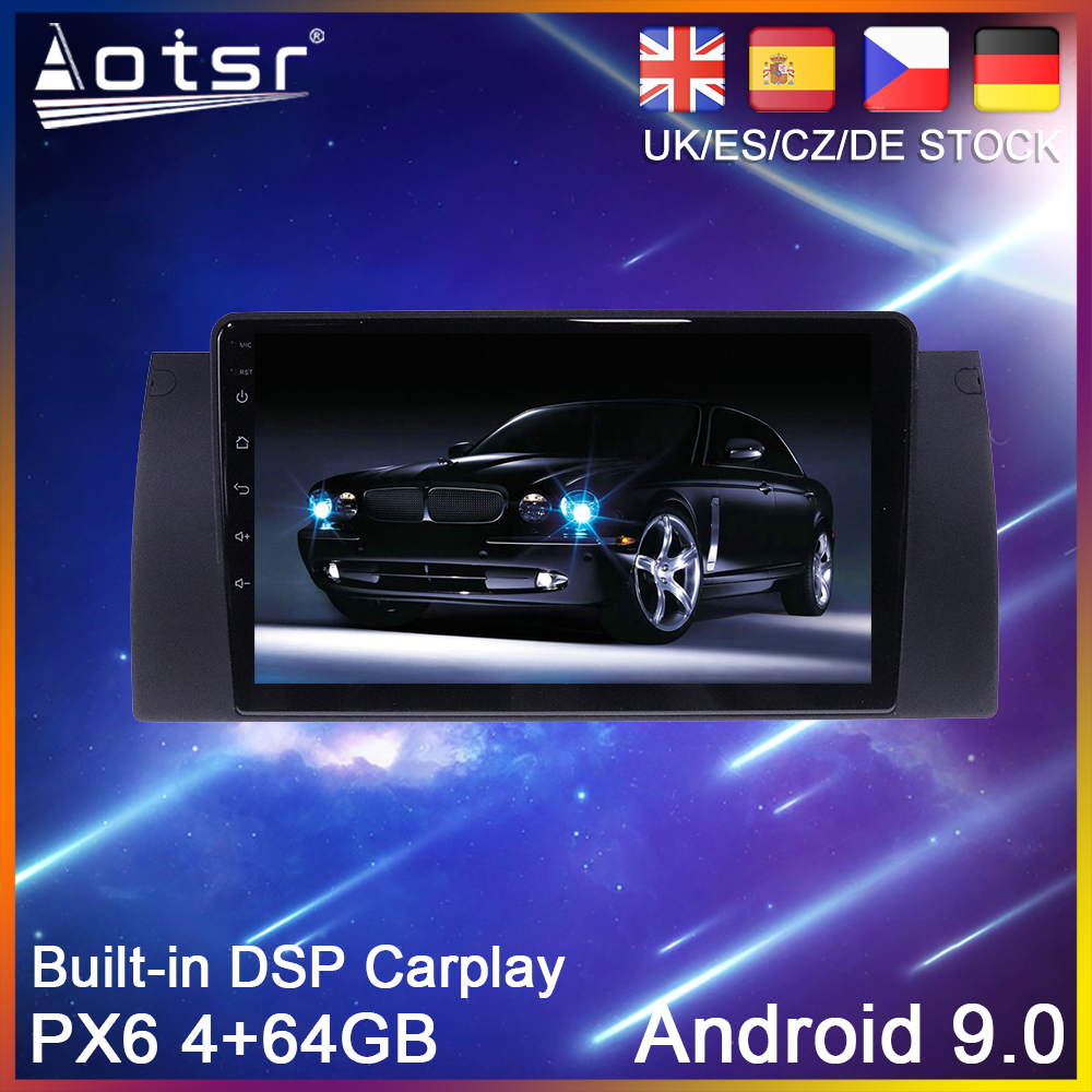 Android 9.0 PX6 64GB Car DVD Player GPS Navigation For <font><b>BMW</b></font> X5 <font><b>E39</b></font> E53 1999-2006 Car Auto Radio Stereo Multimedia Player HeadUnit image