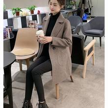 Короткое шерстяное пальто Женское средней длины новинка 2020