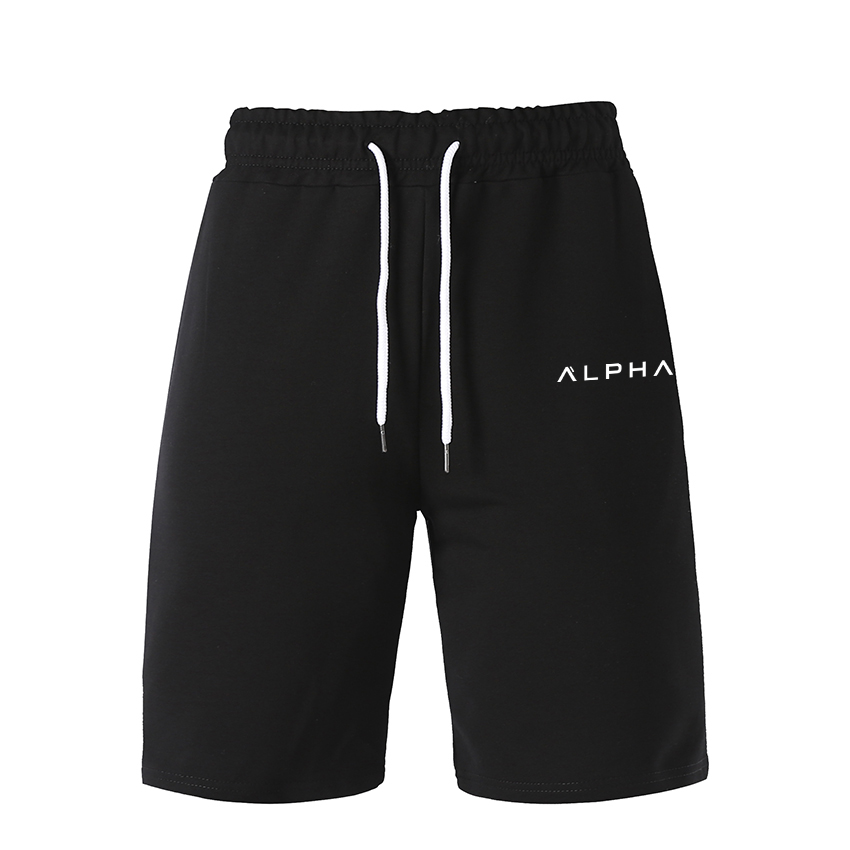 Men Shorts Summer Mens Shorts Pants ALPHA Casual Workout Shorts Elastic Waist Breathable Sweatpants Track Pants Joggers Shorts