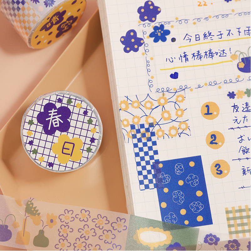 24 Pcs/Lot Nice Flower Paper Washi Tape 25mm Garden Floral Pattern Adhesive Masking Tapes Stickers Decoration Washitape F741
