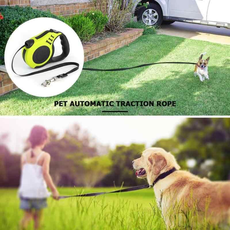 3/5m correa retráctil automática para perros y gatos 2019 cachorro cuerda de tracción automática correas de plomo suministros para mascotas arnés y cables