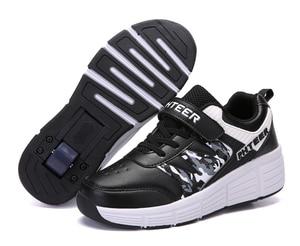 Image 2 - EUR 31 42 dzieci Junior buty rolki dzieci trampki z jednym/dwoma 2020 chłopców dziewcząt koła buty dorosłych przypadkowi buty dla chłopców