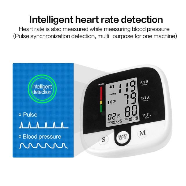 Automatic Digital Upper Arm Blood Pressure Monitor Heart Beat Rate Pulse Meter Tonometer Sphygmomanometers Pulsometer Healthcare