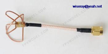 DHL/EMS 40 pcs 5G New 5.8g 3 Leaf Antenna TX W/ SMA type Connector For Audio Video FPV 2 years warranty-A1