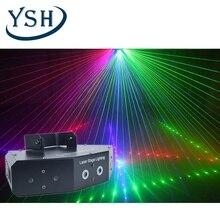 YSH 6 wiązki etap światła laserowego DMX skanowania oświetlenia czerwony niebieski zielony światła nadają się do DJ Bar domu wesele disco KTV, z dobrym skutkiem