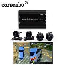 360 grad aufnahme System Surround View Überwachung mit Vorne Hinten Links Rechts Kamera Vogel Ansicht Parkplatz Auto DVR Universal