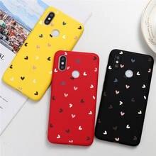 Love Heart Couple Phone Case For Xiaomi Redmi Note 9 9s 8 8T 7 K30 K20 6 5 Pro Max S2 6A 7A 8A Candy Color Soft TPU Back Cover