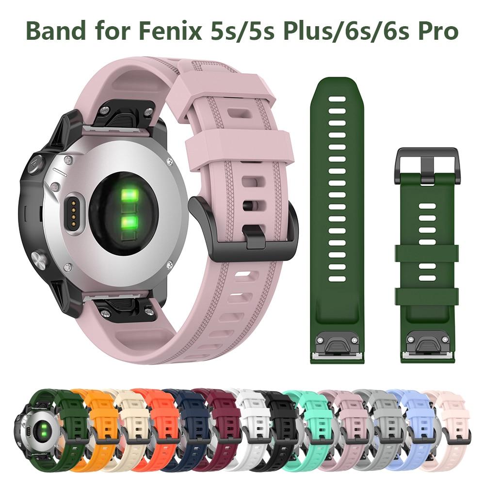 Sport Silicone Band For Garmin Fenix 6S Watchband 20mm Sport Watch Strap For Fenix 5S/5S Plus/Fenix 6S Pro/D2 Delta S Smartwatch