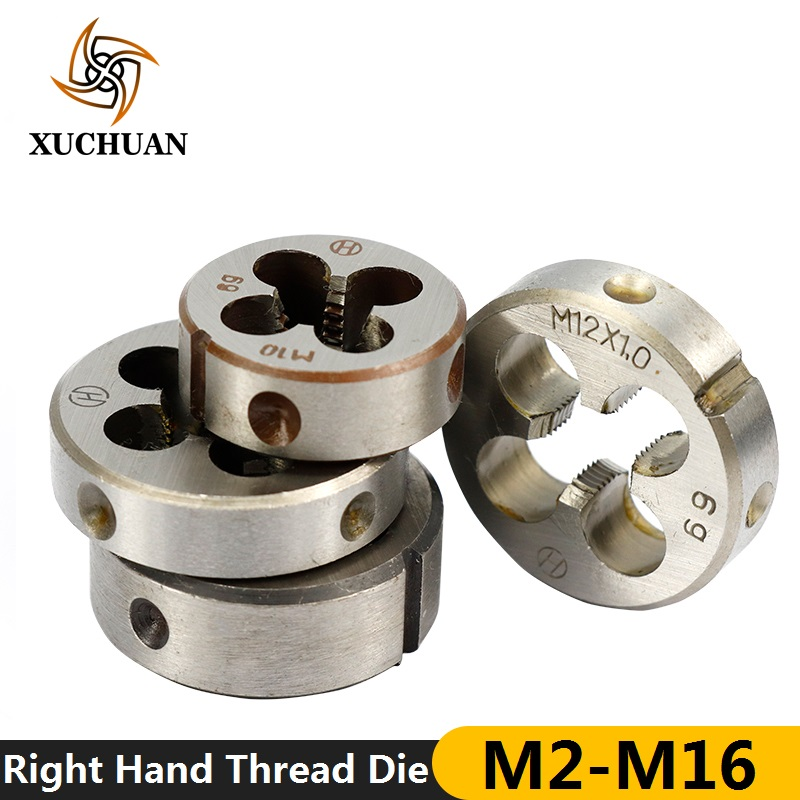 1pc <font><b>M2</b></font>/M6/M7/M8/M10/M12/M13/M14/M16 Right Hand Screw Thread Die Metric Machine Die Hand <font><b>Tapping</b></font> Tools image