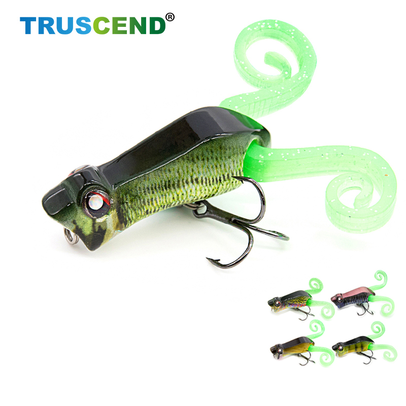 TRUSCEND Fishing Lures Topwater Popper Artificial Hard Bait