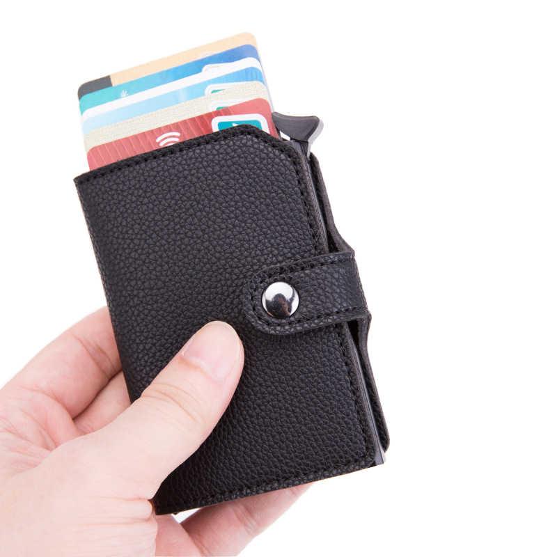 الرجال حامل بطاقة الائتمان الأعمال حامل بطاقات التعريف الشخصية موضة التلقائي محفظة بشريحة RFID حافظة بطاقات حامل بطاقة الألومنيوم محافظ بورت كارت