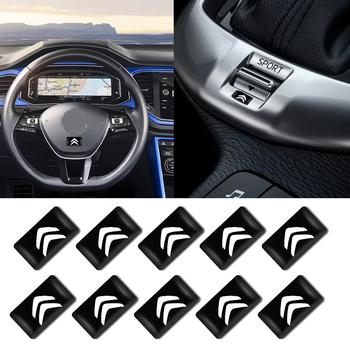 10pcs Car Decorative Badge Steering Wheel Decal Sticker For Citroens C1 C2 C3 C4 C5 C6 C8 C4L DS3 DS5 Car Accessories 12 pcs set car pry tool disassembly tool for peugeot citroen grand c4 picasso elysee ds3 c5 c3 c2 c4 c6 c8 ds4 ds3 ds5 c quatre