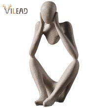 VILEAD-Statue de penseur en résine abasrate, Figurine nordique, décoration pour la maison et le bureau, Sculpture d'art moderne, décor de bureau fait à la main
