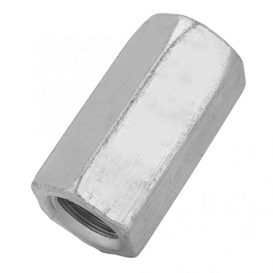 Stainless Steel Square Nuts 1Pcs Zinc Plated Carbon Steel Long Rod Coupling Hex Nut Threaded Fasteners Screw Nut Round nut in Nuts from Home Improvement