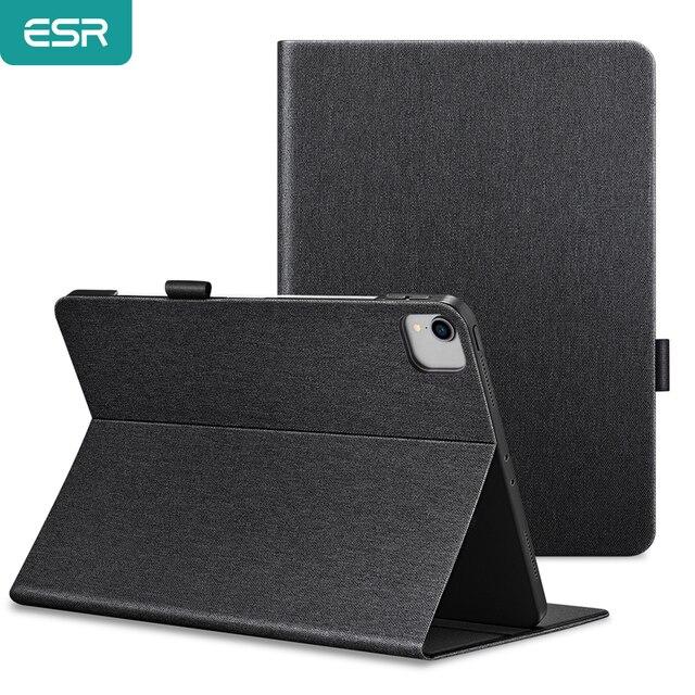 ESRกรณีสำหรับiPad Pro 12.9/11 2020 2018 11/10.5 Pro iPad 7/Mini 1 2 3 4 5/iPad Air 1 2 3 4 Oxfordผ้าPUหนังสมาร์ทปก