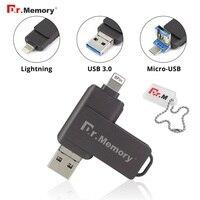 OTG USB Stick 64GB Pen Drive USB 3.0 for iPhone/iPad/IOS/Android/PC 64GB 32GB 16GB 8GB Metal Pendrive USB 3.0 Flash Drive|USB Flash Drives| |  -