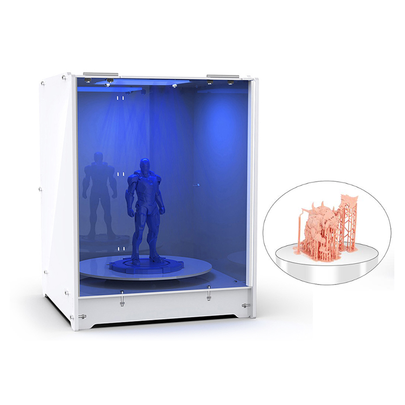WEISTEK DIY Curing Machine 405nm Light Resin UV Curing Box Driven Turntable for LCD DLP SLA 3D Printed Model 3d                                 Cure Box